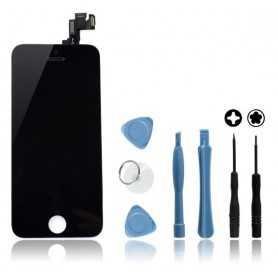Kit Ecran original complet pour iPhone 5S et SE Noir : Vitre + Ecran LCD + Elements + Outils