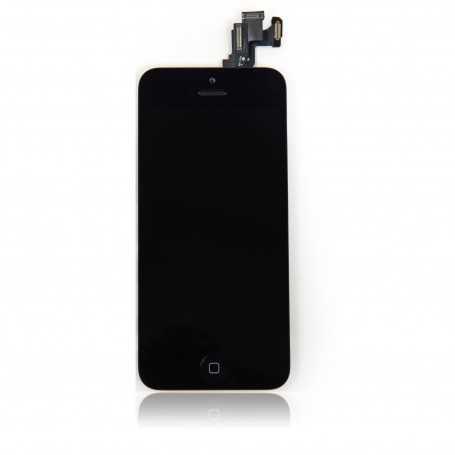 Face avant complète Originale pour iPhone 5C Noir : Vitre + Ecran LCD + Elements