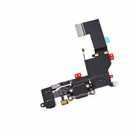 Connecteur de charge Lightning iPhone 5S Noir ou Blanc avec Prise casque + Antenne GSM