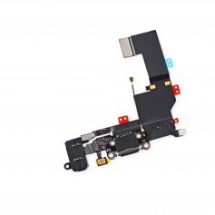 Connecteur de charge Lightning iPhone 5S Noir ou Blanc avec Prise casque + Micro + Antenne GSM